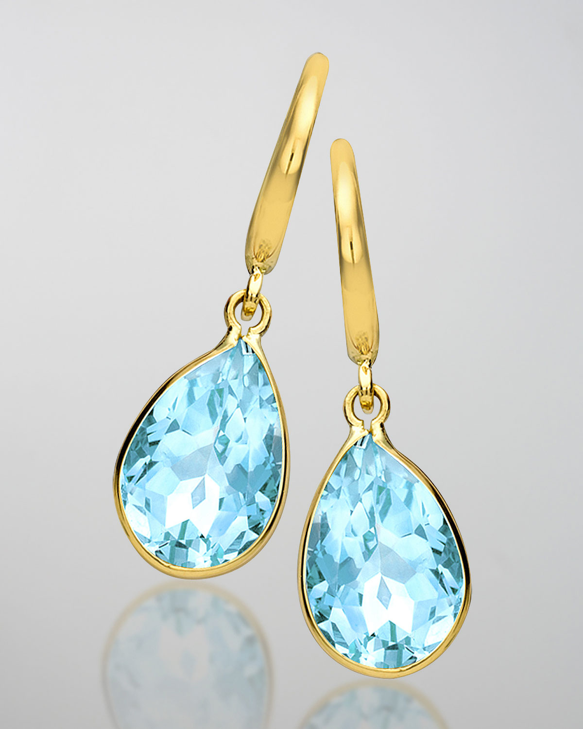 Kiki Mcdonough 18k Gold Eternal Blue Topaz Teardrop