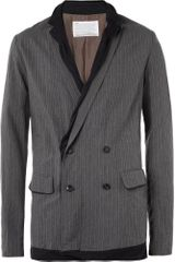 Kolor Double Layered Cotton Blend Blazer - Lyst