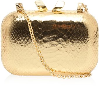Kotur Margo Snake Metallic Clutch - Lyst