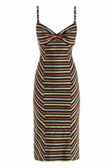 L'Wren Scott Multicolor Stripe Dress - Lyst