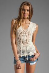 Lisa Maree First in Line Crochet Top - Lyst