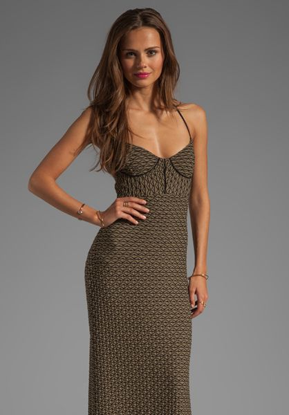 L*space Isabel Maxi Dress in Green (olive)
