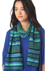 M Missoni Diamond Stripe Scarf - Lyst