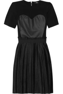 Markus Lupfer Faux Leather and Jersey Dress - Lyst