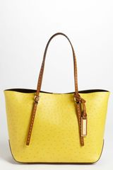 Michael Kors Gia Small Ostrich Embossed Leather Tote - Lyst