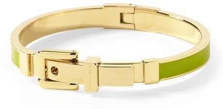 Michael Kors Buckle Bangle in Green (green/gold) - Lyst