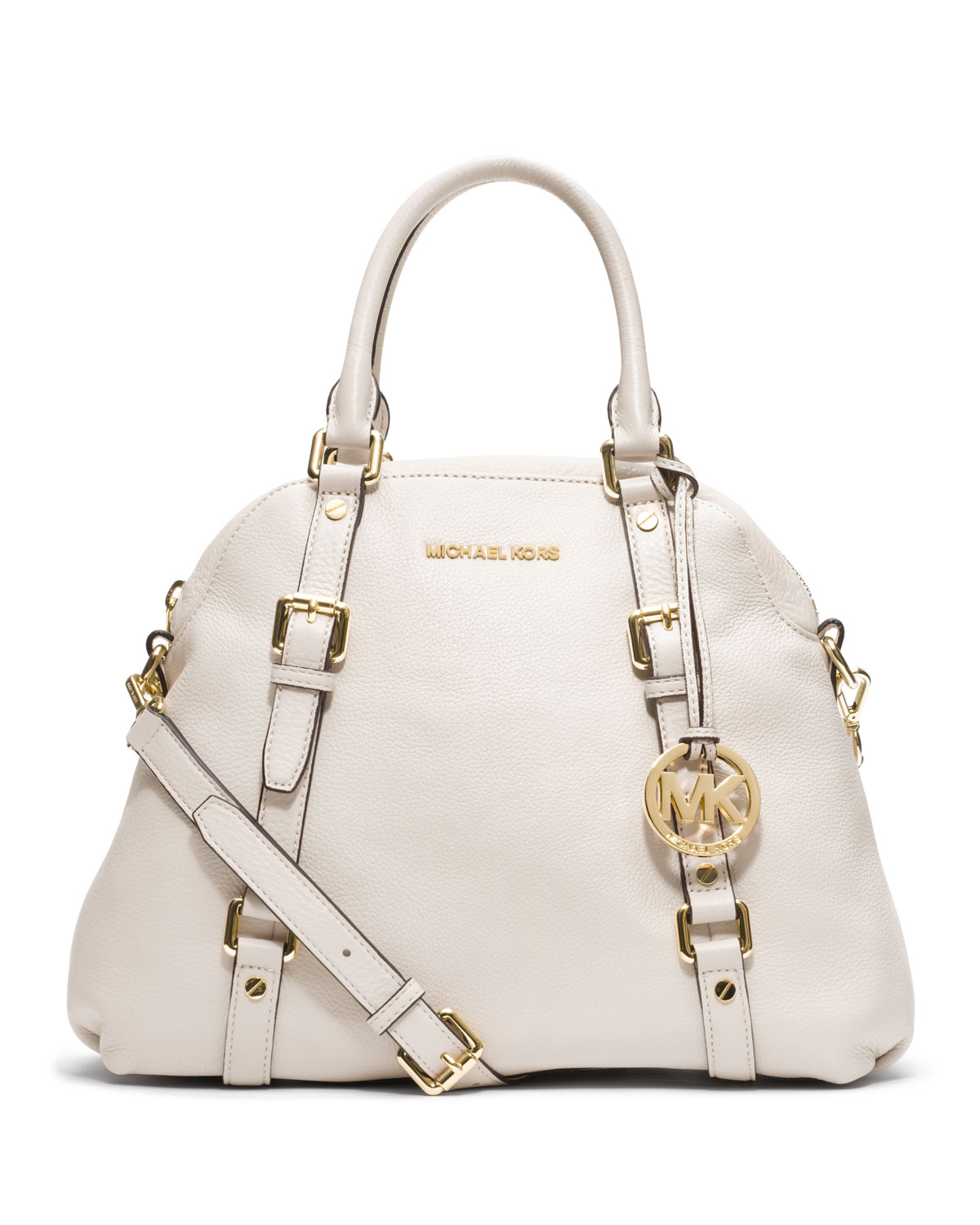 75eb918a49f9 ... 50% off lyst michael kors large bedford bowling satchel in white 6464d  c1cfd