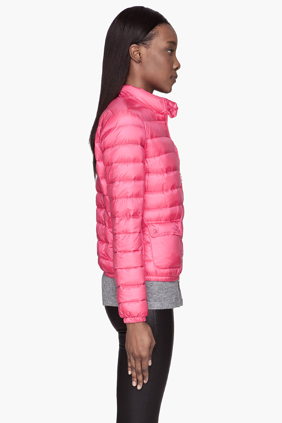 8a46eb5d2a4a Lyst - Moncler Fuchsia Pink Quilted Down Lans Jacket in Pink