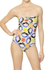 MSGM Printed Lycra Bathing Suit - Lyst