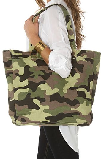Nixon The Tree Hugger Canvas Tote in Woodland Camo - Lyst