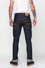 Nudie Jeans Thin Finn Organic Dry Twill Jeans in Blue for Men (denim) - Lyst