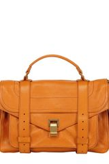Proenza Schouler Medium Lux Leather Satchel - Lyst