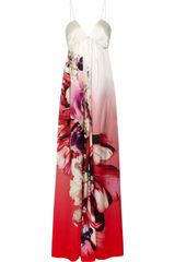 Roberto Cavalli Dégradé Printed Silk Maxi Dress