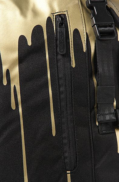 Sprayground The Gold Drips Top Loader Backpack In Black