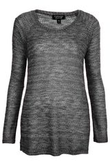 Topshop Burnout Textured Sweat - Lyst