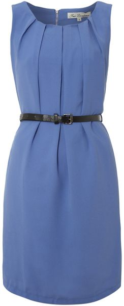 True Decadence Pleated Belt Dress - Lyst