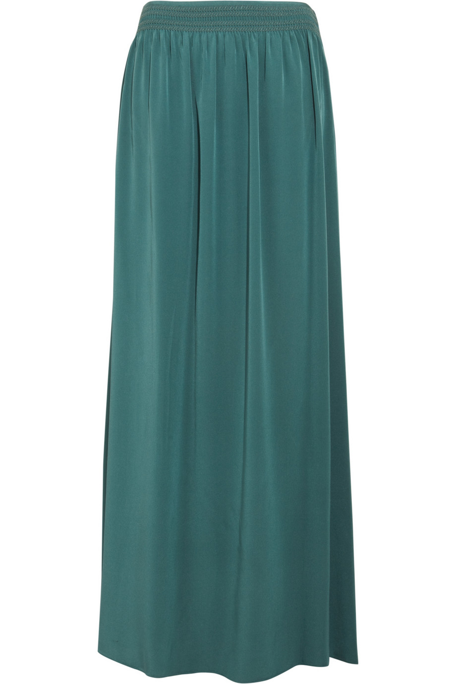 Vanessa bruno Silk Maxi Skirt in Green | Lyst