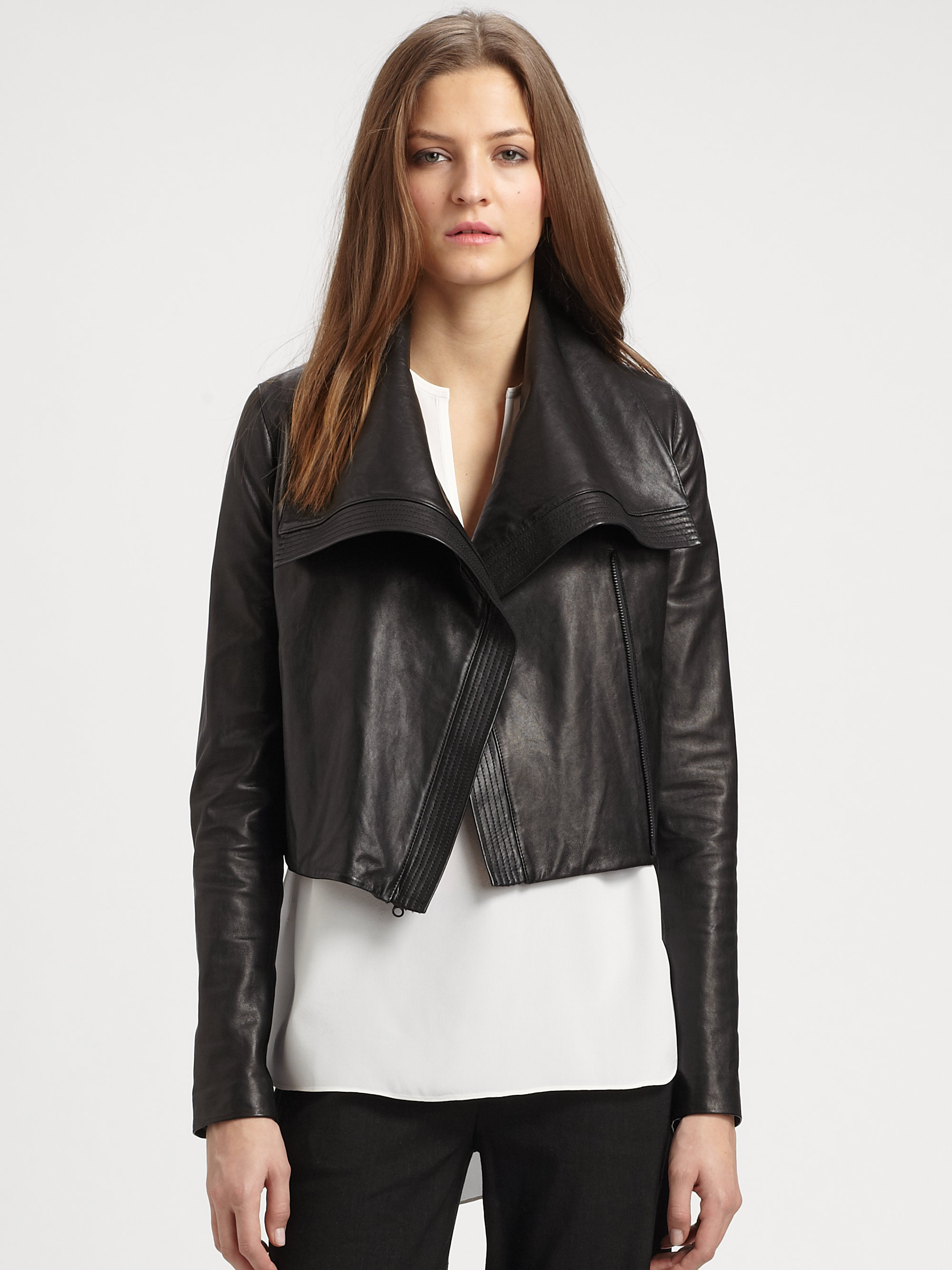 MICHAEL Michael Kors - Cropped Leather Jacket fefdinterested.gq, offering the modern energy, style and personalized service of Saks Fifth Avenue stores, in an enhanced, easy-to-navigate shopping experience.