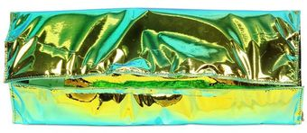 Zilla Hologram Laminated Cotton Clutch - Lyst