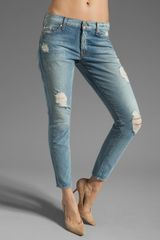 7 For All Mankind Crop Jeans - Lyst