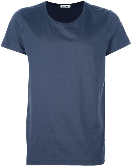 Acne Standard Tshirt in Blue for Men - Lyst