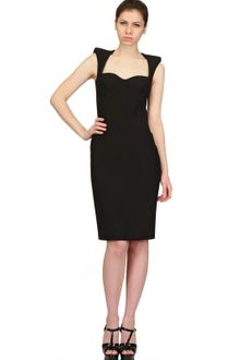 Alexander McQueen Leaf Viscose Crepe Dress - Lyst