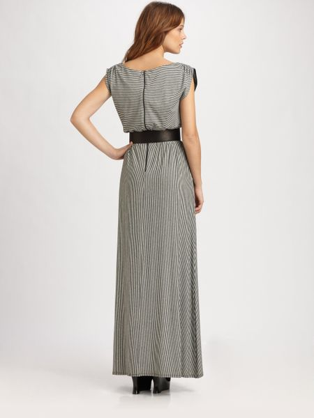 Alice + Olivia Luca Belted Maxi Dress in Gray (grey) - Lyst
