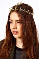 ASOS Collection Gold Spike Hair Crown - Lyst