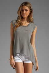 BCBGMAXAZRIA Striped Tee in Blackwhite - Lyst