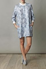Boy By Band Of Outsiders Japanese Flowerprint Dress in Blue (sky) - Lyst
