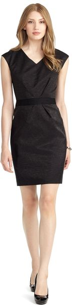 Brooks Brothers Deep V Bow Dress - Lyst