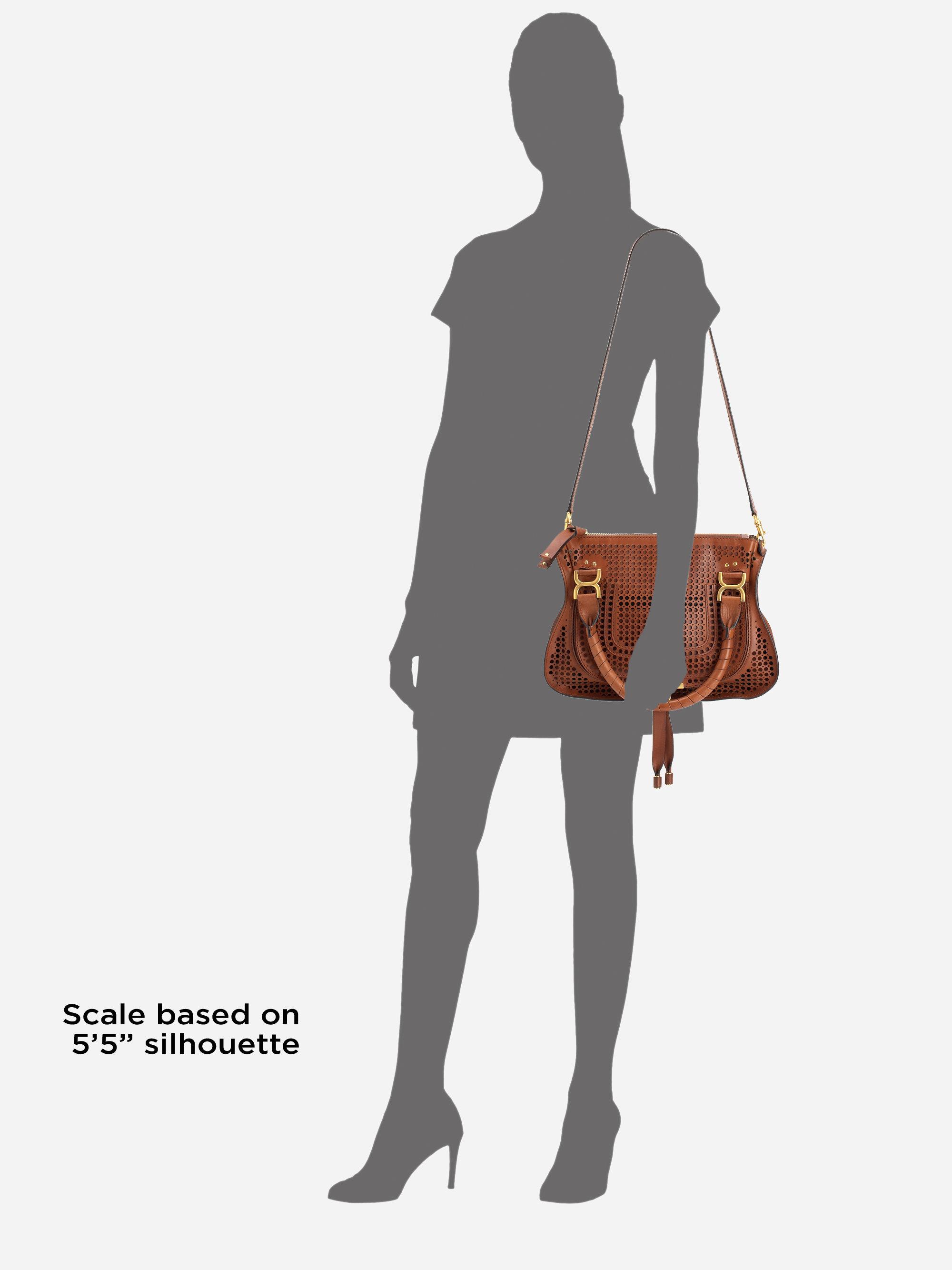 chloe red bag - Chlo�� Marcie Medium Perforated Leather Shoulder Bag in Brown ...