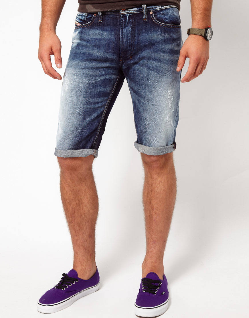 Lyst - DIESEL Denim Shorts Shioner in Blue for Men e71674e535e08