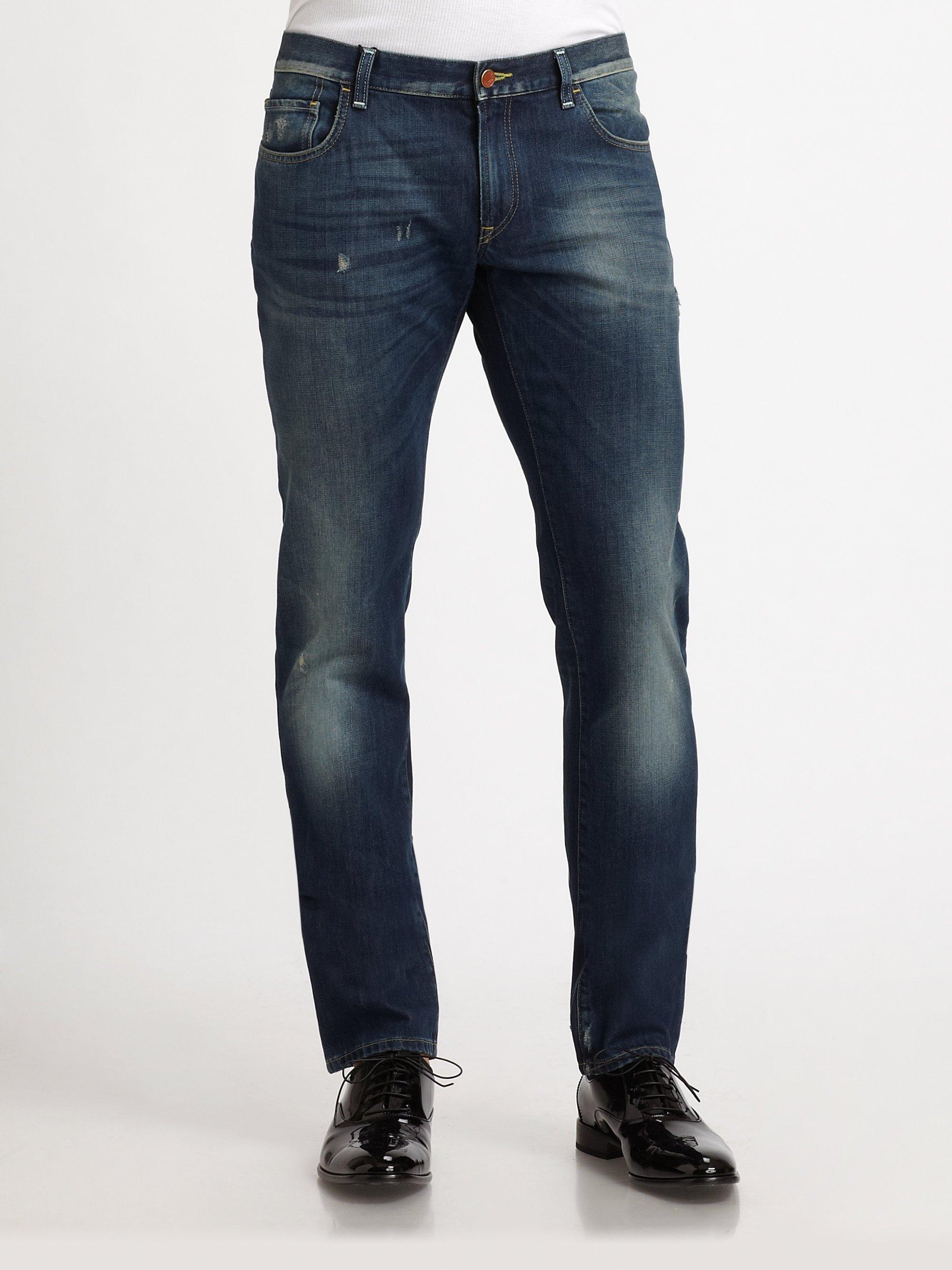dolce gabbana distressed denim jeans in blue for men. Black Bedroom Furniture Sets. Home Design Ideas