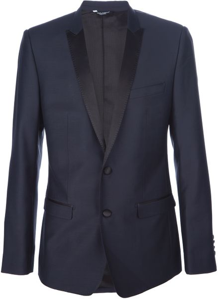 Dolce & Gabbana Suit with Contrast Piping in Blue for Men (navy) - Lyst