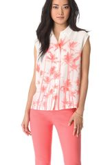 Equipment Diem Sleeveless Button Down Blouse - Lyst