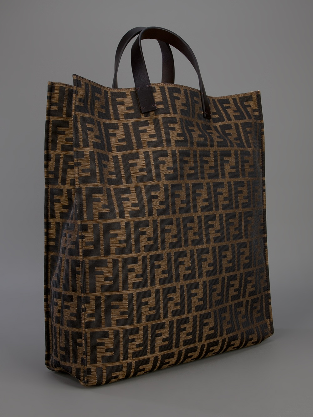 Fendi Logo Shopper Bag In Brown Lyst