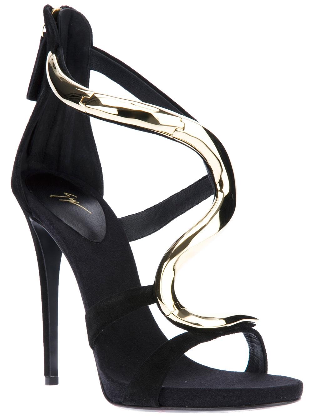 Black sandals heels - Gallery