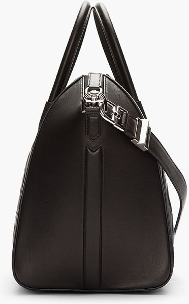Givenchy Black Quilted Leather Suede Antigona Duffle Bag