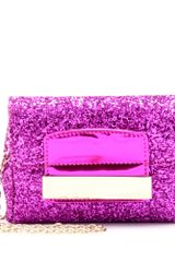 Jimmy Choo Caro Glitter Clutch