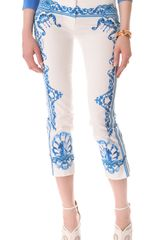 Just Cavalli Print Cropped Pants - Lyst