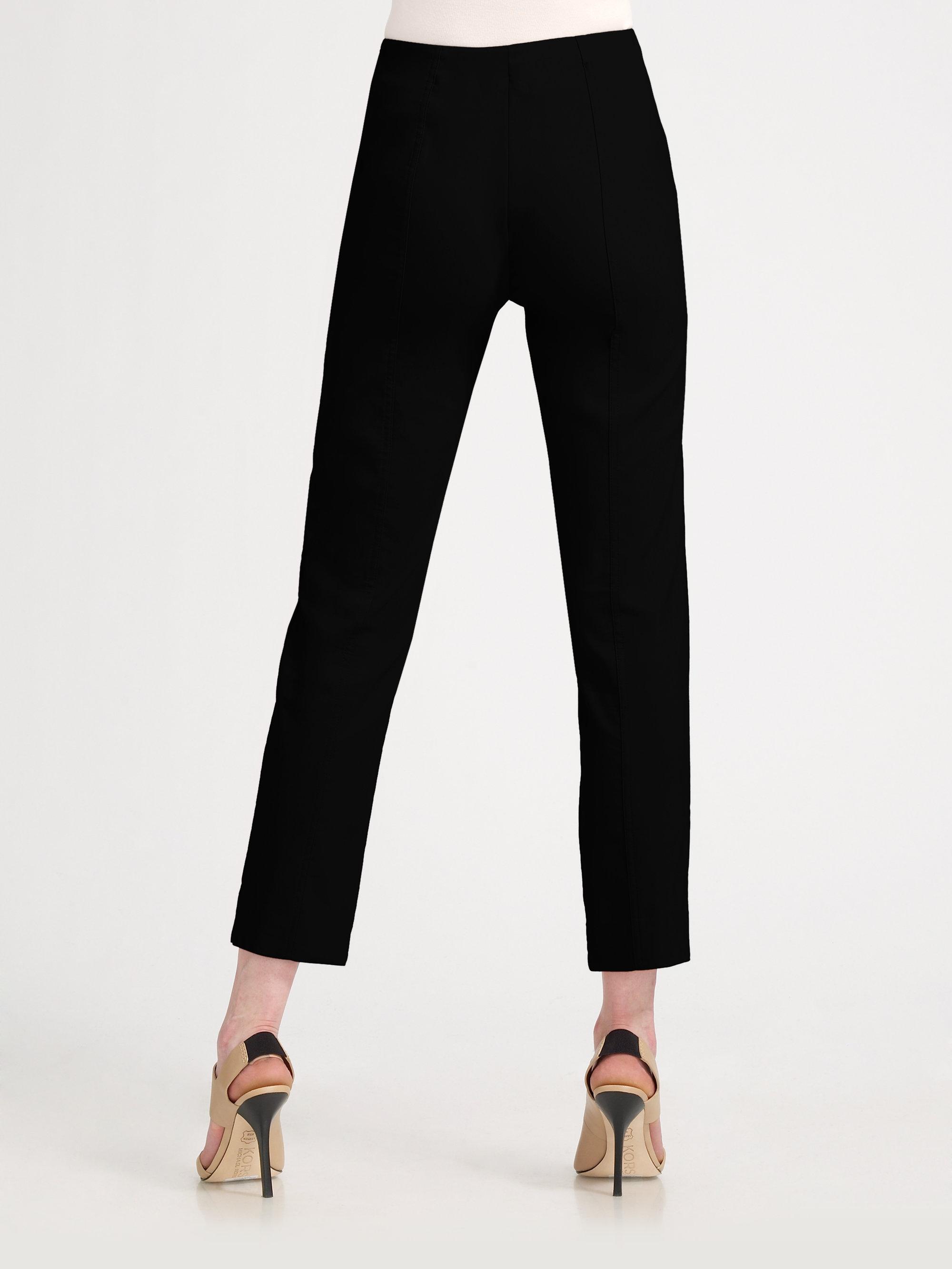 Lavia18 Stretch Satin Capri Pants in Black | Lyst