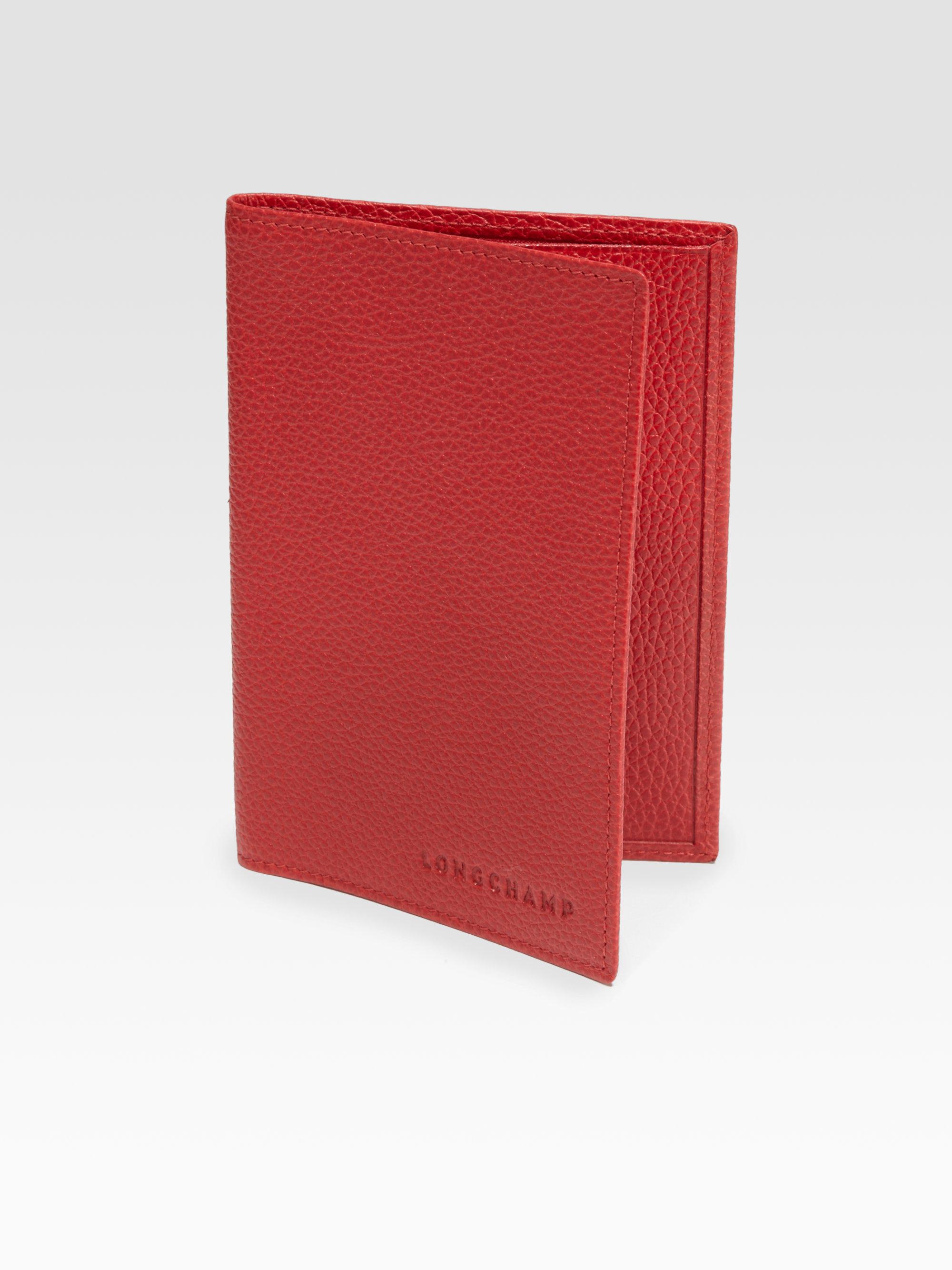 Longchamp Vf Passport Holder In Red For Men Lyst