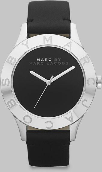 Marc By Marc Jacobs Stainless Steel Logo Matte Leather Watch - Lyst