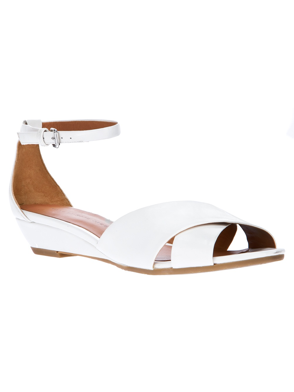 marc by marc low wedge sandal in white lyst