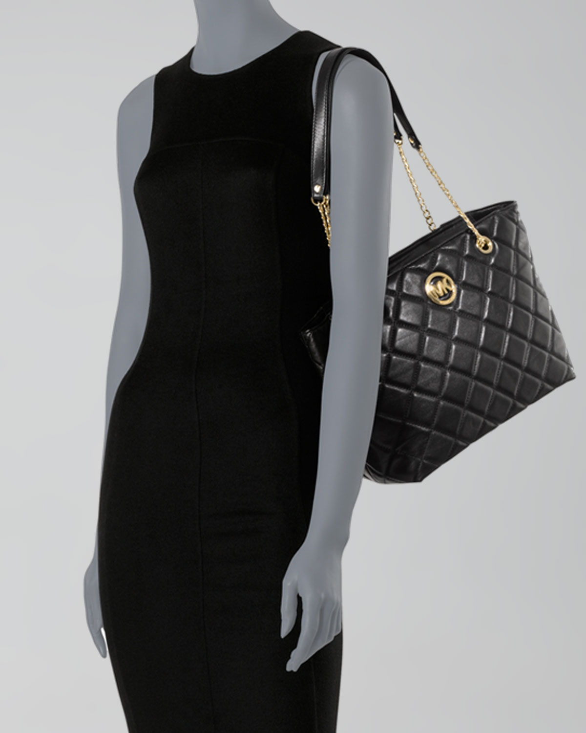 Lyst - Michael michael kors Large Fulton Quilted Tote in Black : michael kors fulton quilt - Adamdwight.com