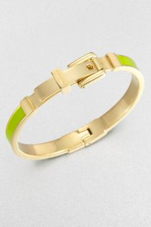 Michael Kors Enamel Buckle Bangle Bracelet Lime Green - Lyst