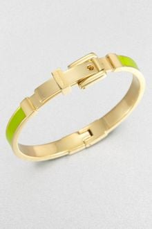 Michael Kors Enamel Buckle Bangle Bracelet - Lyst