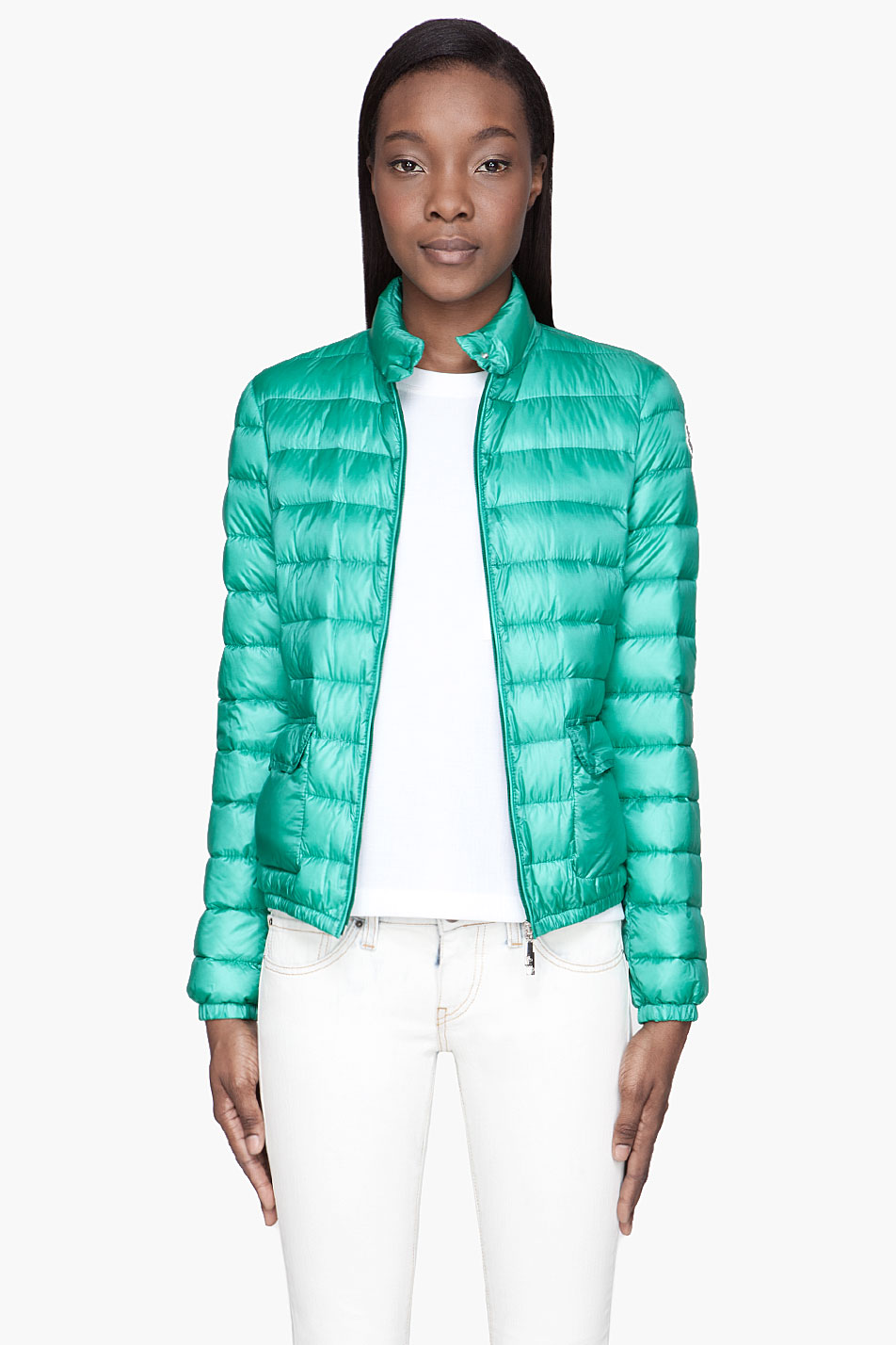 Moncler Mint Green Quilted Down Lans Jacket In Green Lyst