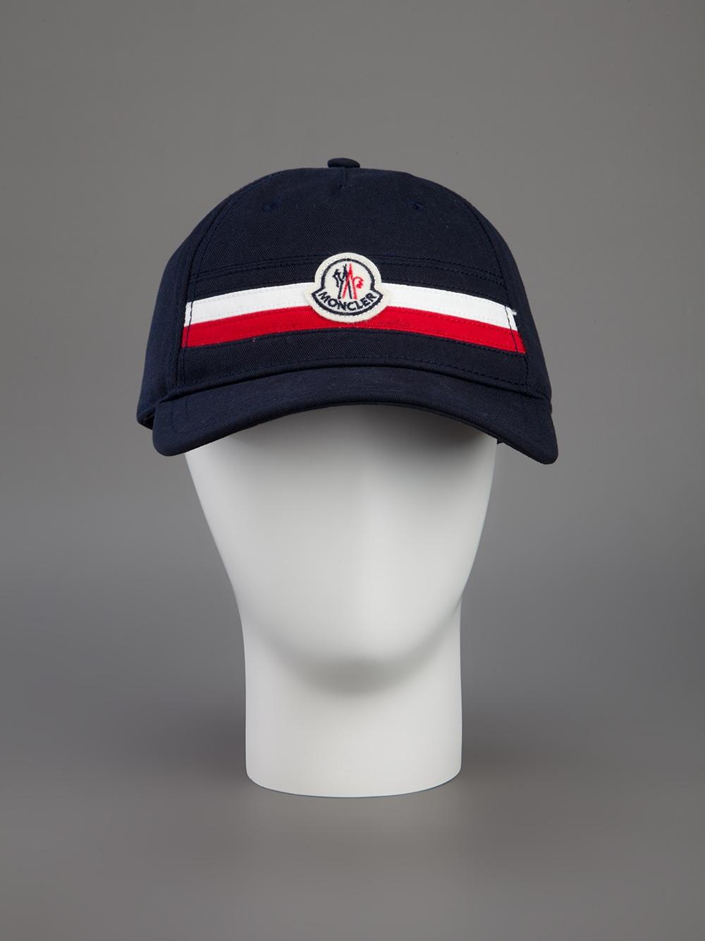 Moncler Logo Baseball Cap In Blue For Men Lyst